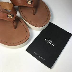 Coach Shelly Matte Sandals